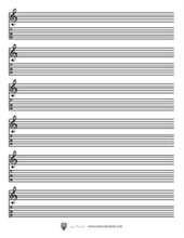 Printable Blank Sheet Music Guitar Lessons With Steve Mindick